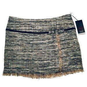 TRUE MEANING | Women Fringe Mini Skirt Bow Detail